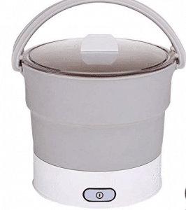 Foldable cooker for traveling