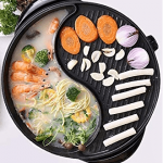 BBQ electric hot pot with Grill