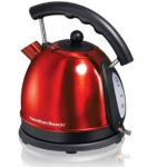Hamilton Beach 1.7 litre Electric Kettle red Stainless Steel (40894) Review