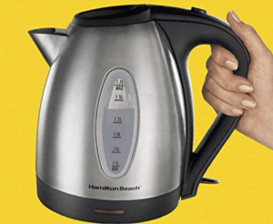 Hamilton Beach 40870 Stainless Steel 10-Cup Electric Kettle