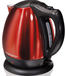 Hamilton Beach 40872 Stainless Steel Red Ensemble Electric Kettle
