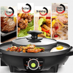 LIVEN SK-J3201 Electric Grill with Hot Pot With Glass Lid Review