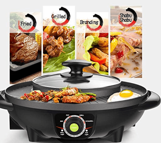 LIVEN SK-J3201 Electric Grill with Hot Pot Reviews