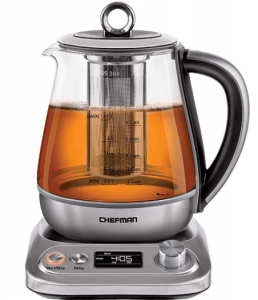 Chefman PerfecTea Programmable Electric Glass Kettle